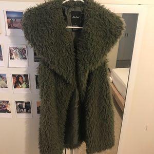 Jackets & Blazers - Long shaggy Faux fur vest